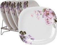 White Gold Oddessey Printed Melamine Plate Set (White, Pack Of 6) - PTDE7RWGFZGDNBHR