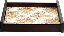 IVY Flora Square Tray Printed Wood Tray