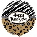 Anagram Happy New Year Safari Paper Plate - Multicolor, Pack Of 1
