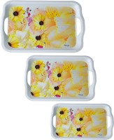 Recon Melamine Serving Tray Set - 6 Pcs Solid Melamine Tray Set (Multicolor, Pack Of 3)