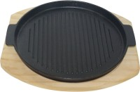 Gran SIZZLER TRAY WITH WOODEN BASE Solid Wood, Iron Tray (Brown, Black) - PTDEMFHGZCBBRGHU