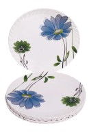Sony Crazy Floral Trendy Dinner Full Printed Melamine Plate Set (White, Multicolor, Pack Of 6)