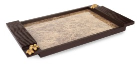 Cocktail New Fibre - Big Size Solid Wood Tray