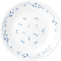 Corelle Livingware Provincial Small Printed Glass Plate Set (White, Blue, Pack Of 6)