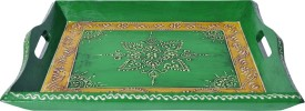 Lal Haveli Colorful Floral Design Hand Printed Wood Tray