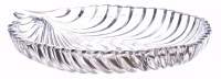 PRAX Classic Leaf Platter / Serving Plate Engraved Glass Tray (White, Pack Of 1)
