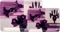 Superware Bunch Of Purple Printed Melamine Tray Set (Purple, White, Pack Of 2)