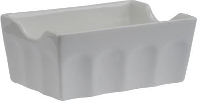 Devnow Ceramics Sugar Basin With Whorl Solid Ceramic Dish Set (White, Pack Of 6)