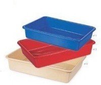 Nakoda Serving Combo Of 3 Solid Plastic Tray (Multicolor, Pack Of 3)