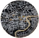 Seletti Twd-Shanghai Solid Porcelain Plate - Black, Pack Of 1