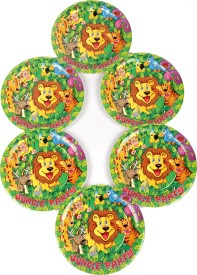 Funcart Jungle Party Theme 7 Inch Printed Paper Plate Set