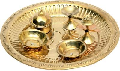 Kalagram Chokhi Dhani Kalagram Chokhi Dhani Brass Pooja & Thali Set