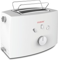 Clearline Crumb Tray And Defrost Capability 800 W Pop Up Toaster (White)