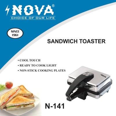 Nova N141 500 Pop Up Toaster (Silver)