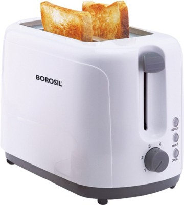 Borosil Krispy BTO750WPW11 2 Slice Pop Up Toaster