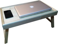SLK Wood Products Maple Wood Solid Wood Portable Laptop Table (Finish Color - Natural Finish)