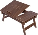 Hubberholme Engineered Wood Portable Laptop Table (Finish Color - Lorraine Walnut)