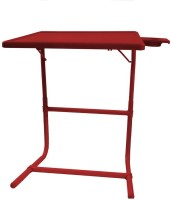 TABLE MATE Red Platinum Tablemate With Double Foot Rest Adjustable Folding Study Cupholder Kids Reading Breakfast Plastic Portable Laptop Table (Finish Color - Red)