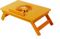 TABLEMATE II Heavy Duty Kids Office Study Reading Adjustable Wooden Orange Bed Mate Engineered Wood Portable Laptop Table (Finish Color - Orange)
