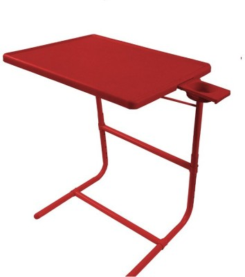 IBS PLATINUM DOUBLE FOOT REST ADJUSTABLE FOLDING KIDS MATE HOME OFFICE READING WRITING STUDY TABLEMATE WITH CUPHOLDER Plastic Portable Laptop Table (Finish Color - Red)