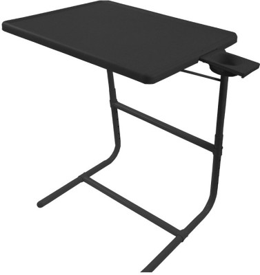 TABLE MATE Black Platinum Tablemate With Double Foot Rest Adjustable Folding Study Cupholder Kids Reading Breakfast Plastic Portable Laptop Table (Finish Color - Black)