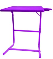 TABLE MATE Purple Platinum Tablemate With Double Foot Rest Adjustable Folding Study Cupholder Kids Reading Breakfast Plastic Portable Laptop Table (Finish Color - Purple)