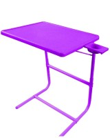 IBS PLATUNUM DOUBLE FOOTREST ADJUSTABLE FOLDING KIDS MATE HOME OFFICE READING WRITING PURPLE STUDY TABLEMATE WITH CUPHOLDER Plastic Portable Laptop Table (Finish Color - Purple)
