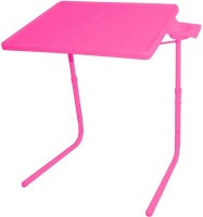 IBS ADJUSTABLE FOLDING KIDS MATE HOME OFFICE READING WRITING STUDY PINK TABLEMATE WITH CUPHOLDER Plastic Portable Laptop Table (Finish Color - Pink)