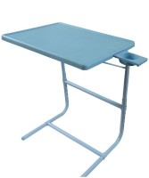 TABLE MATE Blue Platinum Tablemate With Double Foot Rest Adjustable Folding Study Cupholder Kids Reading Breakfast Plastic Portable Laptop Table (Finish Color - Blue) - PLLEGA9AQQYG82HH