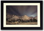 Artifa Posters Mountains Covered with Snow Fine Art Print