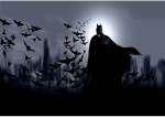 Posterhouzz Posters Posterhouzz Batman With Bats Paper Print