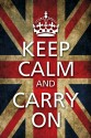 Keep Calm & Carry On - Flag Poster - Small