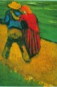 Two Lovers Large By Van Gogh Canvas - Large