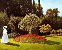 Woman In The Garden Medium By Monet Fine Art Print - Medium