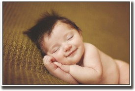 Cute little sleeping baby image Fine Art Print