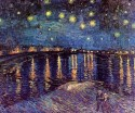 Starry Night Over The Rhone Small By Van Gogh Fine Art Print - Small
