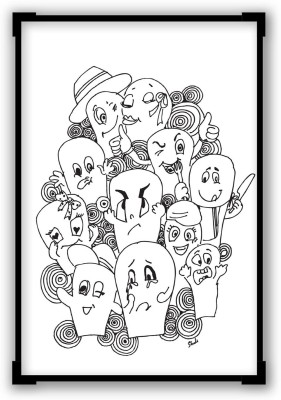 PosterGuy Posters Funny Faces Graphic Illustration Paper Print