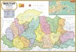 Vidya Chitr Prakashan Posters Bhutan Map Paper Print