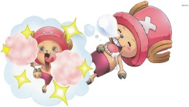 One Piece with happy Chopper Athah Fine Quality Poster Paper Print