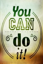 Prithish Posters You Can Do It Paper Print