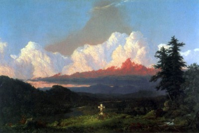 The Museum Outlet In memory of Cole by Frederick Edwin Church Print