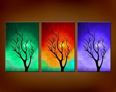50 Off On Abstract Modern Art Canvas Painting X 3 Nos Canvas Art On Flipkart Paisawapas Com