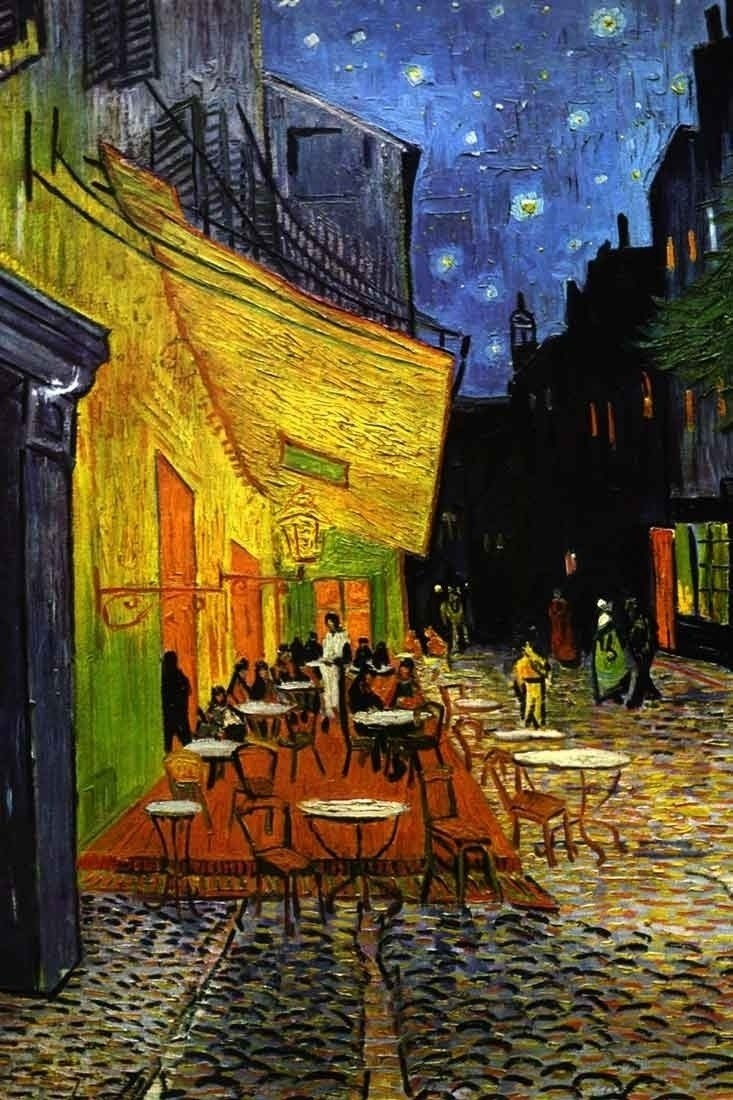 Vincent van gogh the cafe terrace on the place du forum for Terrace 6 indore address