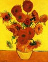 Still Life Vase With Fifteen Sunflowers [3] Small By Van Gogh Canvas - Small
