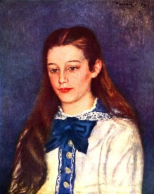 The Museum Outlet Portrait of Therese Berard by Renoir - Print (24 x 18 Inch) Canvas Painting