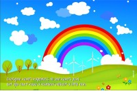 Rainbow Poster - Rainbow Paper Print (Multicolor)