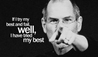 Steve Jobs - Well I have Tried My Best Paper Print: Poster