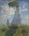 Woman With A Parasol Madame Monet And Her Son By Claude Monet Fine Art Print - Medium