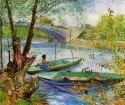 Fishing In Spring Large By Van Gogh Fine Art Print - Large
