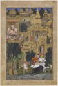The Lord Krishna In The Golden City Fine Art Print - Small